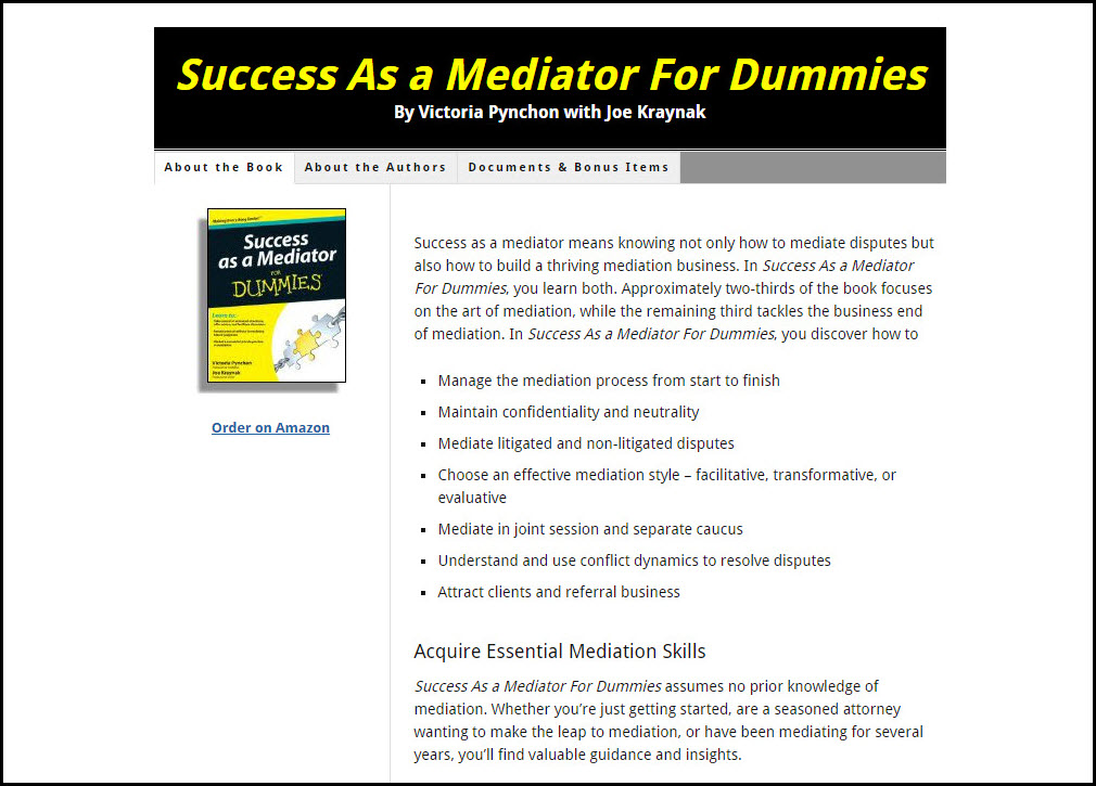 Success As a Mediator